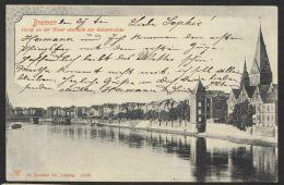 """""""Bremen"""", Partie Oberhalb Kaiserbrücke, 1903 Gelaufen - Bremen"""