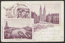 """""""Bremen"""", Gruß Aus..., Braune Mehrbildkarte, 1903 Gelaufen - Bremen"""