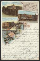 """""""Hamburg"""", Farb-Litho, 1899 Gelaufen, Etwas Bügig - Mitte"""