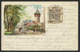 """""""Köln"""", Sachsenring, Farb-Litho, 1899 Gelaufen - Köln"""