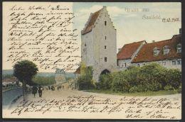 """""""Saalfeld"""", Gruß Aus..., Farbig, 1900 Gelaufen - Saalfeld"""