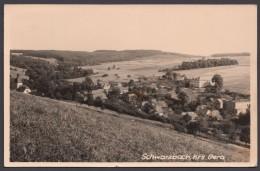 """""""Schwarzbach"""" Kreis Gera, Fotokarte, 1963 Gelaufen, Selten ! - Deutschland"""