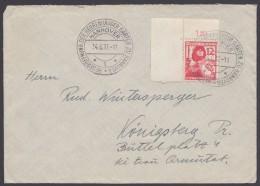 """MiNr. 645, """"Hannover"""", Sst. Neueröffnung Herrenhäuser Gärten, 14.6.37 - Briefe U. Dokumente"""
