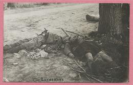 West-Vlaanderen - Flandre Occidentale - Carte Photo - Foto - LANGEMARK - Soldats Morts - Guerre 14/18 - Carte N° 4 - Langemark-Poelkapelle