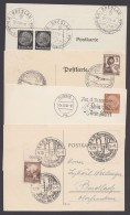4 Belege Mit Sonderstempeln Aus 1937/8 - Deutschland