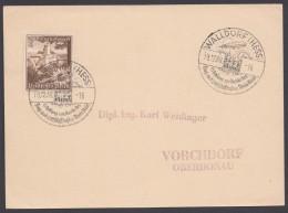 """, Sst """"Walldorf/Hessen"""", Luftschiffhafen, 13.12.38 - Briefe U. Dokumente"""