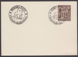 """MiNr. 751, Propaganda-Stempel """"Düsseldorf"""", 5.Reichsstraßensammlung, 2,2,41 - Deutschland"""