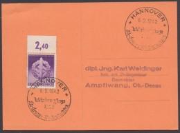 """MiNr. 818, """"Hannover"""", Propaganda-Stempel """"Wehrkampftage SA"""", 6.9.42 - Deutschland"""