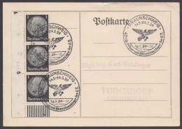 """MiNr. 512, Propaganda-Stempel """"Braunschweig"""", Führerlager HJ, 16.5.39 - Deutschland"""