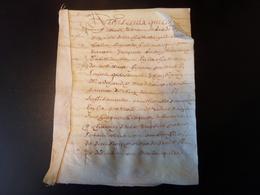 Manuscrit Sur Peau De Porc Ou Chèvre Du 5 Juillet 1648 Concernant Les Paleines ( Cuvée De Vins ?? ) - Manuscripts