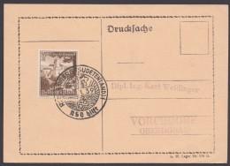 """MiNr. 675, Propaganda-Stempel """"Reichenberg/Schlesien"""", NSV Hilft, 1939 - Deutschland"""