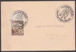"""MiNr. 675, Propaganda-Stempel """"Hannover"""", 1.Jahrestag Großdeutschland, 13.3.39 - Deutschland"""
