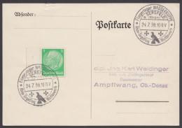 "MiNr. 515, Propaganda-Stempel ""Gersfeld"", Fliegerlager Wasserkuppe, 24.7.39 - Deutschland"