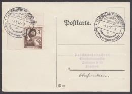 """MiNr. 643, Propaganda-Stempel """"Gersfeld"""", Fliegerlager Wasserkuppe, 4.7.37 - Briefe U. Dokumente"""