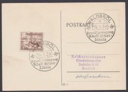 """MiNr. 651, Propaganda-Stempel """"Waldbröl"""", Adolf-Hitler-Schule, 15.1.38 - Deutschland"""