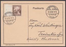 "MiNr. 665, Propaganda-Stempel ""Teterow"", Bergring, 21.8.38 - Deutschland"