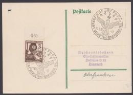 "MiNr. 643, Propaganda-Stempel ""Erfurt"", Kreistag NSDAP, 21.6.37 - Briefe U. Dokumente"