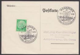"""MiNr. 515, Propaganda-Stempel """"Hannover"""", Rudermeisterschaft, 13.8.39 - Deutschland"""