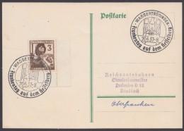 """MiNr. 643, Propaganda-Stempel """"Wassertrüdingen"""", Frankentag, 20.6.37 - Deutschland"""
