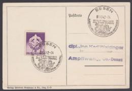 """MiNr. 818, Propaganda-Stempel """"Essen"""", Sowjet-Paradies, 8.10.42 - Deutschland"""