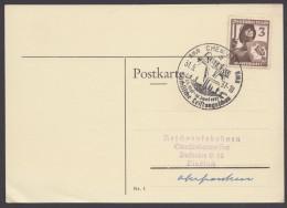 """MiNr. 643, Propaganda-Stempel """"Chemnitz"""", Leistungsschau, 31.5.37 - Deutschland"""