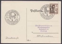 "MiNr. 643, Propaganda-Stempel ""Chemnitz"", Gordon-Bennett-Fahrt, 18.4.37 - Briefe U. Dokumente"