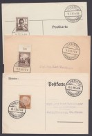 "Propaganda-Stempel ""Chemnitz"", Jahrmarktplatz, 1937/9, 3 Karten - Briefe U. Dokumente"