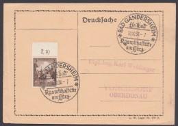 """MiNr. 665, Propaganda-Stempel """"Bad Gandershaim"""", Roswithastätte, 10.10.38 - Briefe U. Dokumente"""