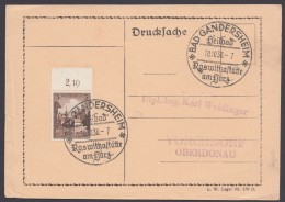 "MiNr. 665, Propaganda-Stempel ""Bad Gandershaim"", Roswithastätte, 10.10.38 - Deutschland"