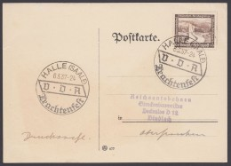 """MiNr. 634, Propaganda-Stempel """"Halle"""", Trachtenfest, 6.3.37 - Deutschland"""