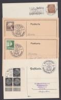 """PP 122 U.a., Propaganda-Stempel """"Nürnberg"""", Reichsparteitag 1937/8, 4 Belege Mit Sst. - Deutschland"""