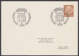 "PP 122 , Propaganda-Stempel ""München"", Hauptstadt Der Bewegung, 28.1.39 - Deutschland"