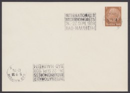 "PP 122 , Propaganda-Stempel ""Bad Nauheim"", Bäderkongress, 5.9.38 - Briefe U. Dokumente"