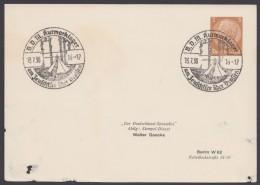 """PP 122 , Propaganda-Stempel """"Drossen"""", Zeutschsee, Kurmarklager BDM, 13.7.38 - Deutschland"""
