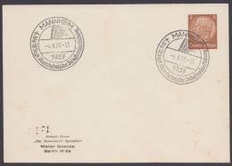 "PP 122 , Propaganda-Stempel ""Mannheim"", Industrieausstellung, 4.9.37 - Briefe U. Dokumente"
