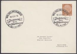 """PP 122 , Propaganda-Stempel """"Wilhelmshaven"""", Ausstellung Der Bolschewismus, 10.5.39 - Deutschland"""