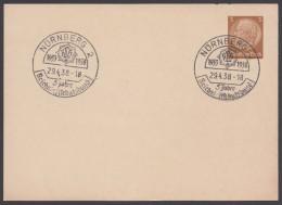 """PP 122 , Propaganda-Stempel """"Nürnberg"""", Reichs-Luftschutzbund, 29.4.38 - Briefe U. Dokumente"""