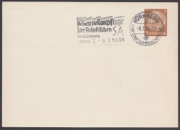 """PP 122 , Propaganda-Stempel """"Nürnberg"""", Kampftage SA, 9.7.39 - Briefe U. Dokumente"""