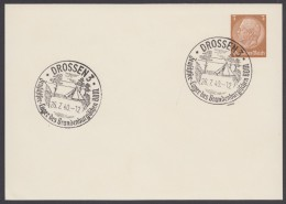 "PP 122 , Propaganda-Stempel ""Drossen"", Zeutschsee-Zeltlager BDM, 26.7.40 - Briefe U. Dokumente"
