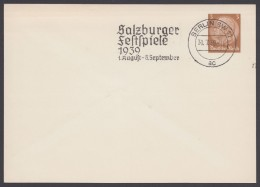 "PP 122 , Propaganda-Stempel ""Berlin"", Salzburger Festspiele, 31.7.39 - Briefe U. Dokumente"