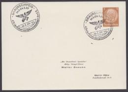 """PP 122 , Propaganda-Stempel """"Braunschweig"""", Reichsführerlager HJ, 16.5.39 - Briefe U. Dokumente"""