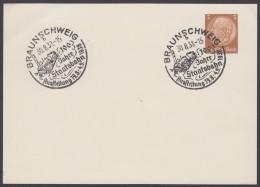 """PP 122 , Propaganda-Stempel """"Braunschweig"""", 100 Jahre Staatsbahn, 30.8.38 - Deutschland"""