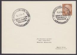 """PP 122 , Propaganda-Stempel """"Telgte"""", Pferde- Und Fohlenmarkt, 1939 - Briefe U. Dokumente"""