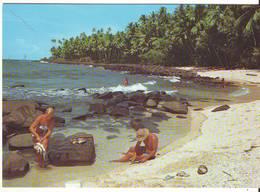 CPM/CPSM - ILES DU SALUT - Petite Plage à L'ile St Joseph - Guyane