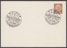"""PP 122 , Propaganda-Stempel """"Weimar"""", Buch Und Schwert, 27.10.40 - Briefe U. Dokumente"""