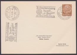 """PP 122 , Propaganda-Stempel """"Leipzig"""", Reichsarbeitstagung Druck Und Papier, 1938 - Deutschland"""