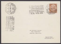 """PP 122 , Propaganda-Stempel """"Leipzig"""", Werbeschau Kreishandwerkerschaft, 1938 - Deutschland"""