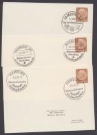 """PP 122 , Propaganda-Stempel """"Hamburg"""", 3 Karten Mit Versch. Sst Aus 1939, Dabei Stadtparkrennen - Briefe U. Dokumente"""