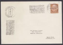 """PP 122 , Propaganda-Stempel """"Wuppertal-Barmen"""", Reichswettstreit Mundartdichter, 1939 - Deutschland"""