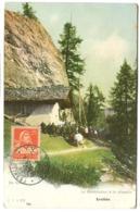 Early Maximum Card Maxicard 1921 YVERDON En Valais La Bénédiction à La Chapelle Evolène - Maximumkarten (MC)